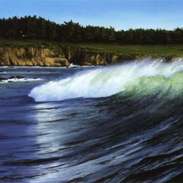 PEBBLE BEACH WAVE 24″X30″